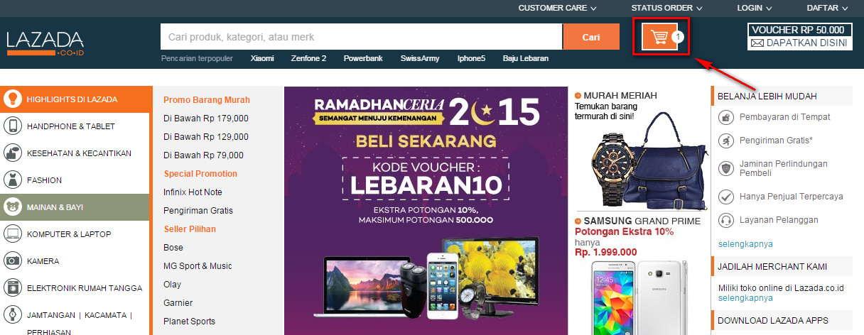 Pusat Bantuan | Pemesanan dan Pembayaran | Lazada Indonesia