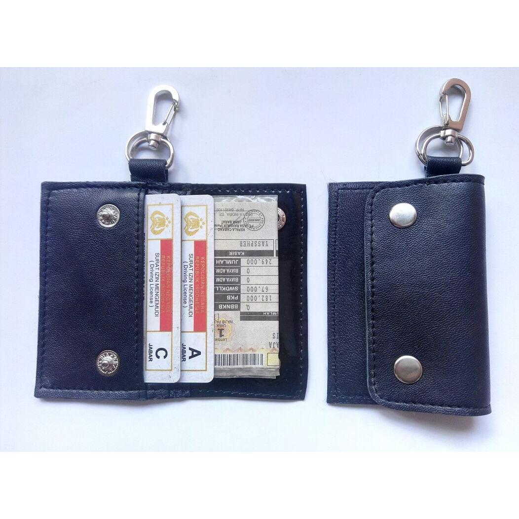 Gantungan Kunci Kulit - Dompet STNK dan SIM