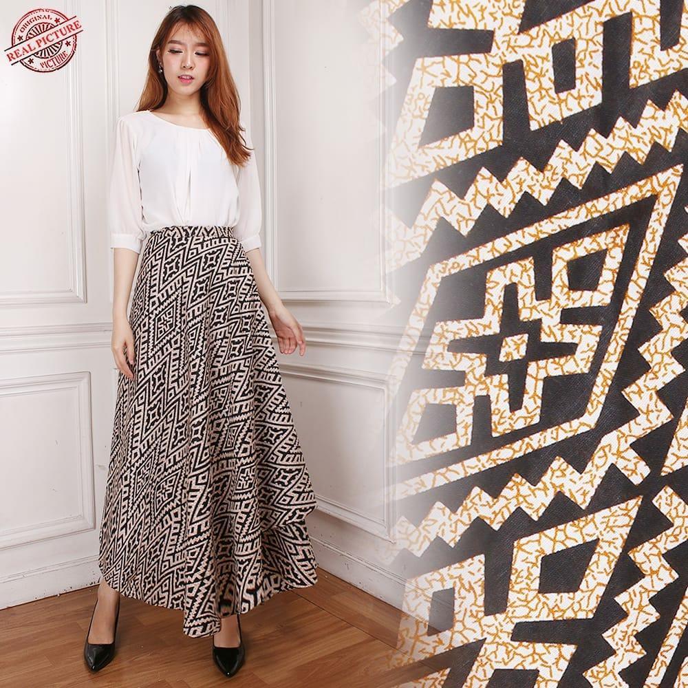 Cj collection Rok lilit batik maxi payung panjang wanita jumbo long skirt Nancy
