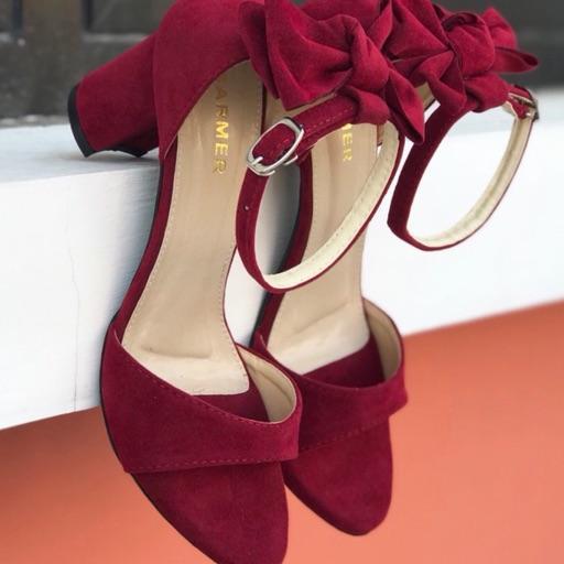 SARMER CASANDRA MAROON sepatu wanita heels