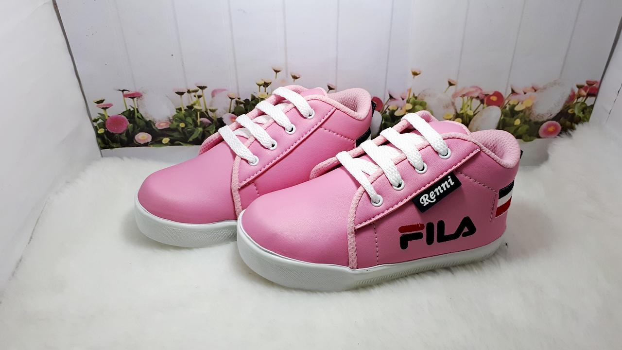Fashion Anak Perempuan Soeok Salo Sepatu Kasual Denim Pria Coklat Sneakers Fila