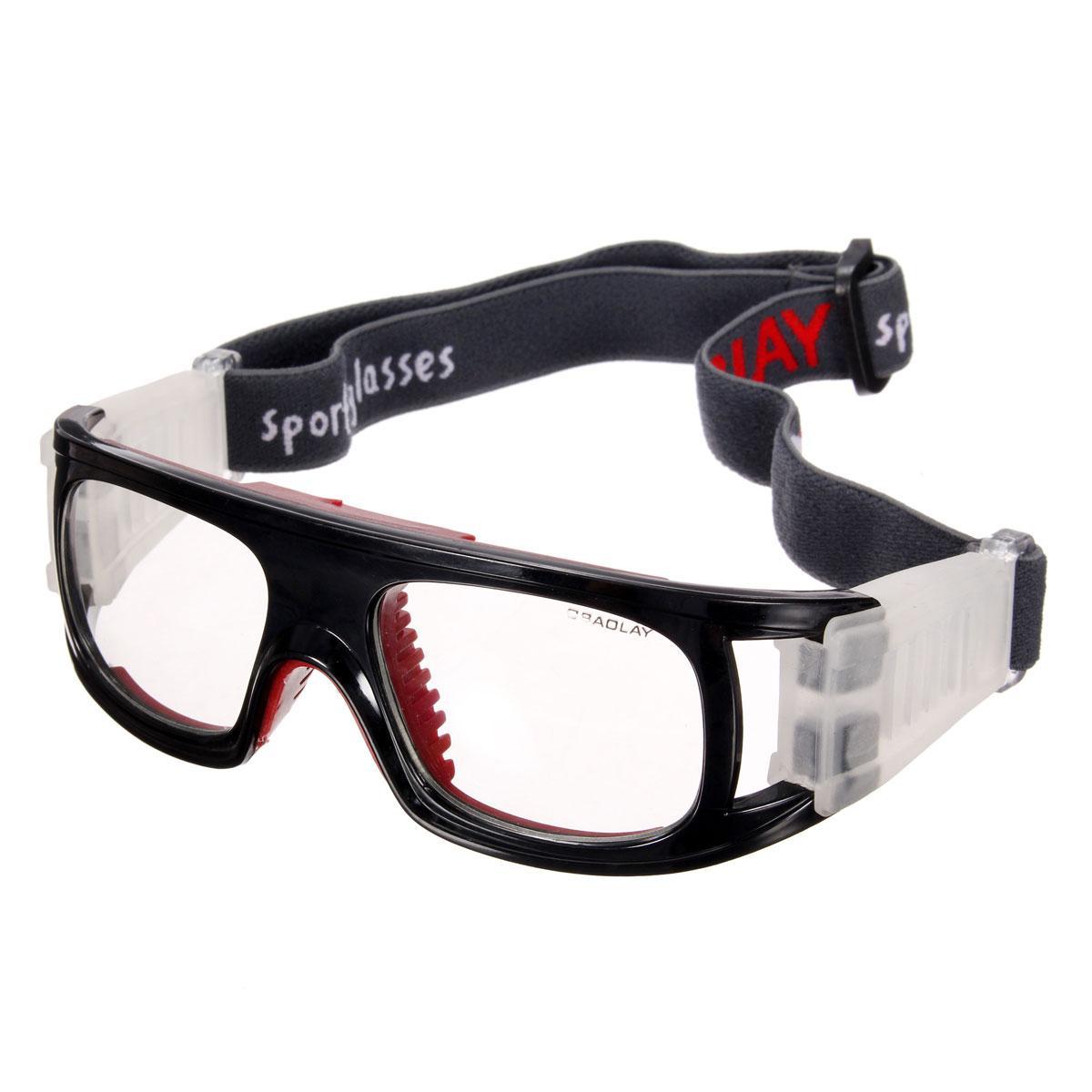 【Flash Deal】Audew Olahraga Sepak Bola Basket Kacamata Mata Kacamata Pengaman Pelindung Elastis (