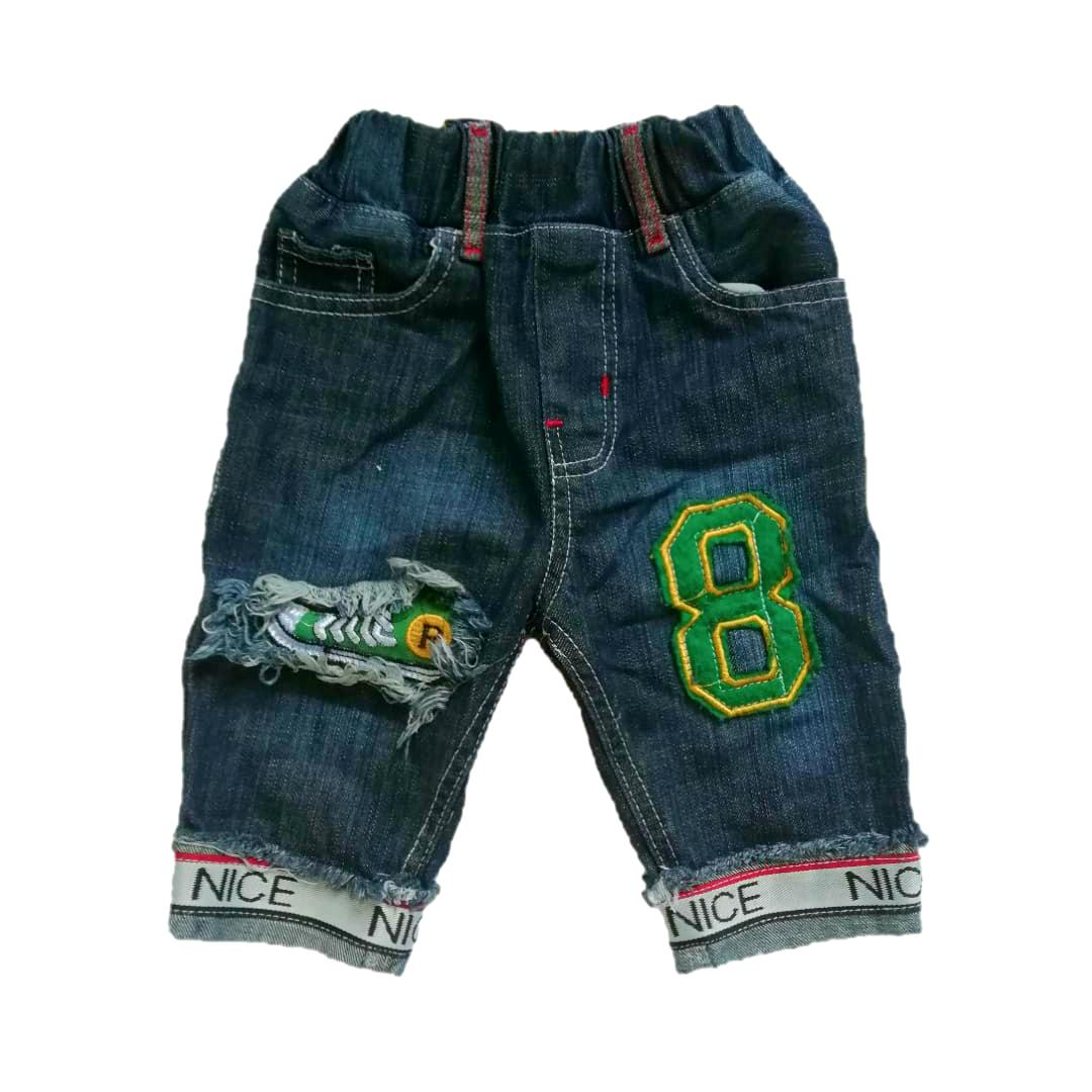 Celana Pendek 7/8 Jeans Patch