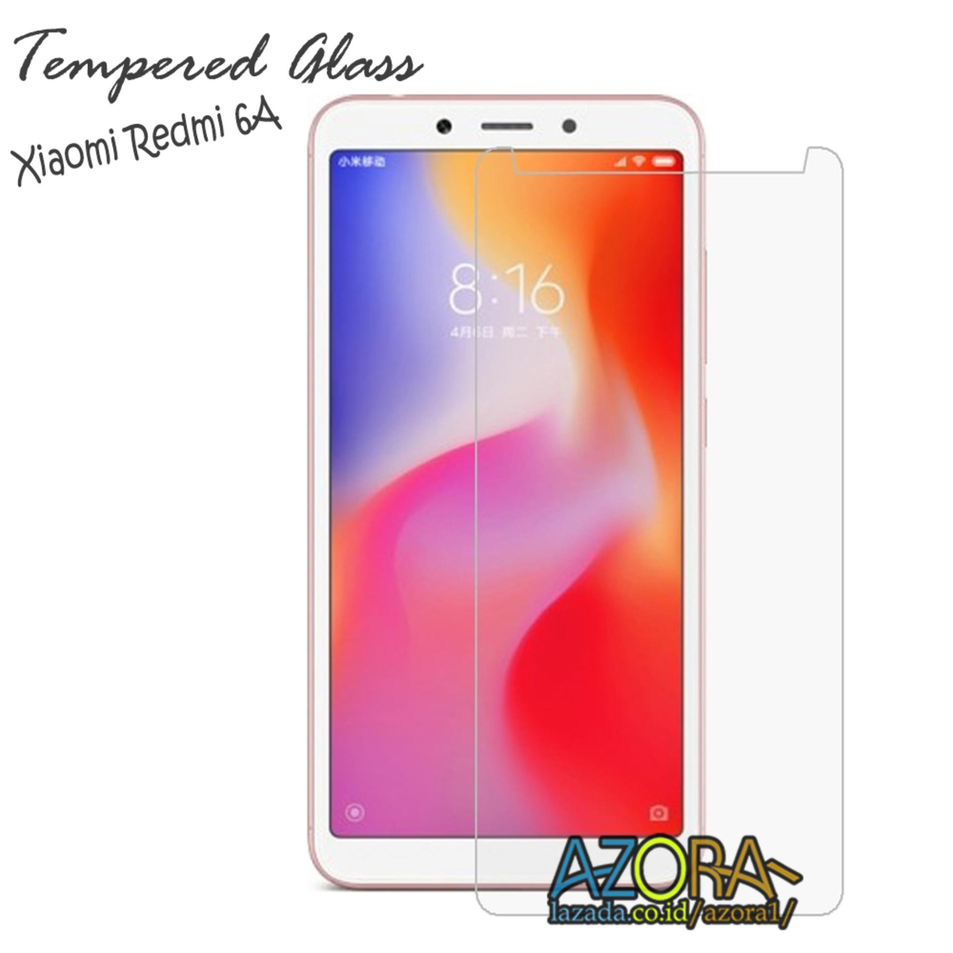 Tempered Glass Xiaomi Redmi 6A Screen Protector Pelindung Layar Kaca Anti Gores - Bening