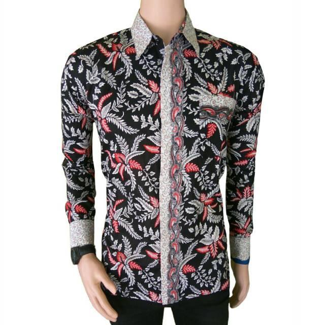 kemeja batik pria BATIK PEKALONGAN- Kemeja Lengan Panjang Batik Eksklusif Baju Batik Motif Nirmala