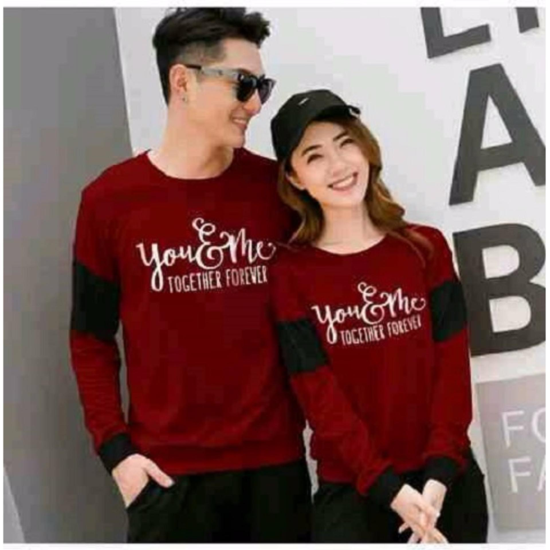 Jakarta Couple - Sweater Couple Forever / Sweater Couple Terbaru / Couple Murah / You Me Forever / Sweater Kapel / Sweater Together