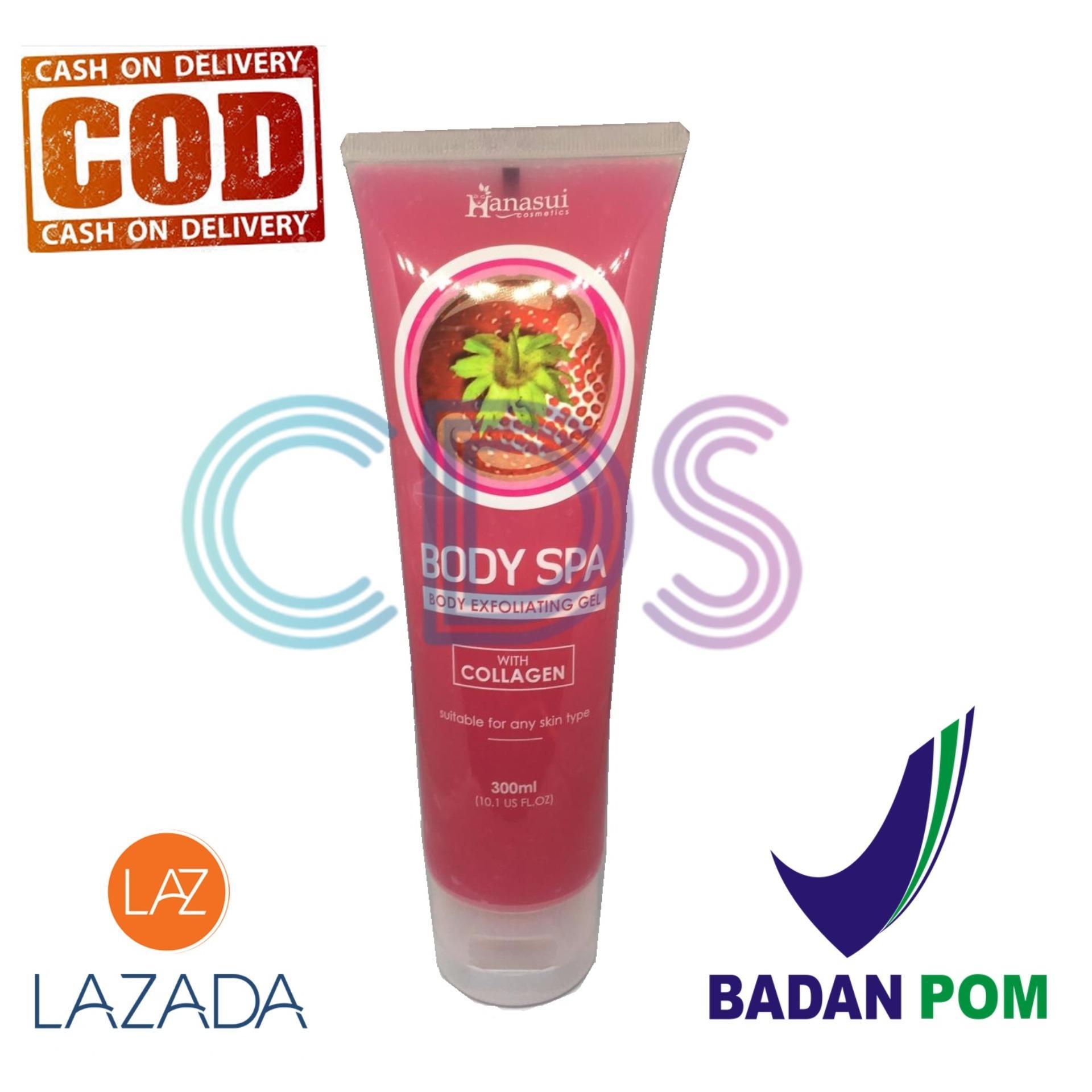 Hanasui Body Spa Exfoliating Gel With Collagen Peeling Gel Perontok Daki - Strawberry