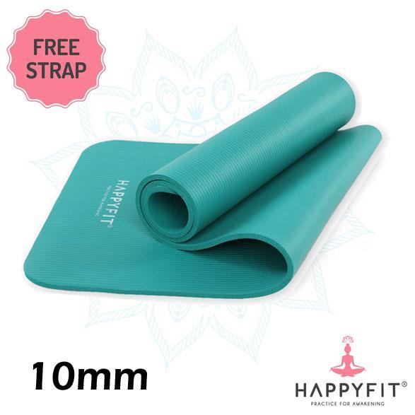 HAPPYFIT NBR 10mm Yoga Matt TOSCA / Matras Senam / Matras Yoga Tebal 10 mm