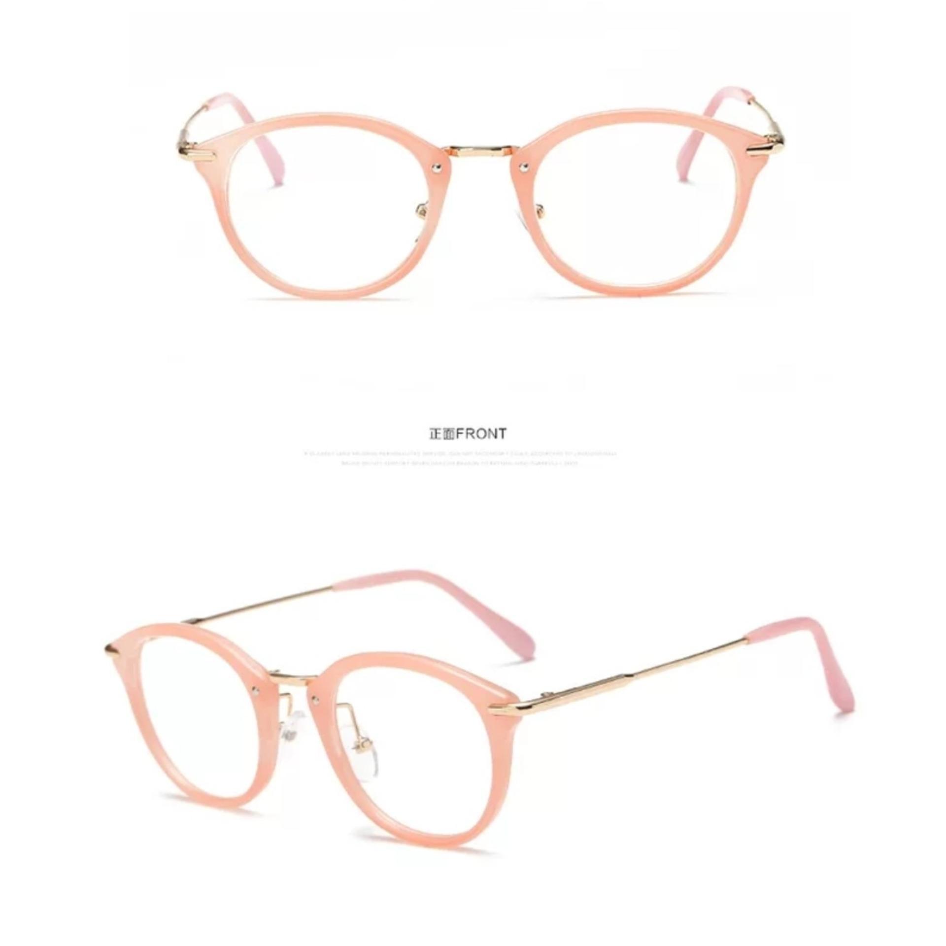 Timely - High Quality Charming Women's Round Clear Lens Glasses SUN 4480 - Kacamata Wanita -