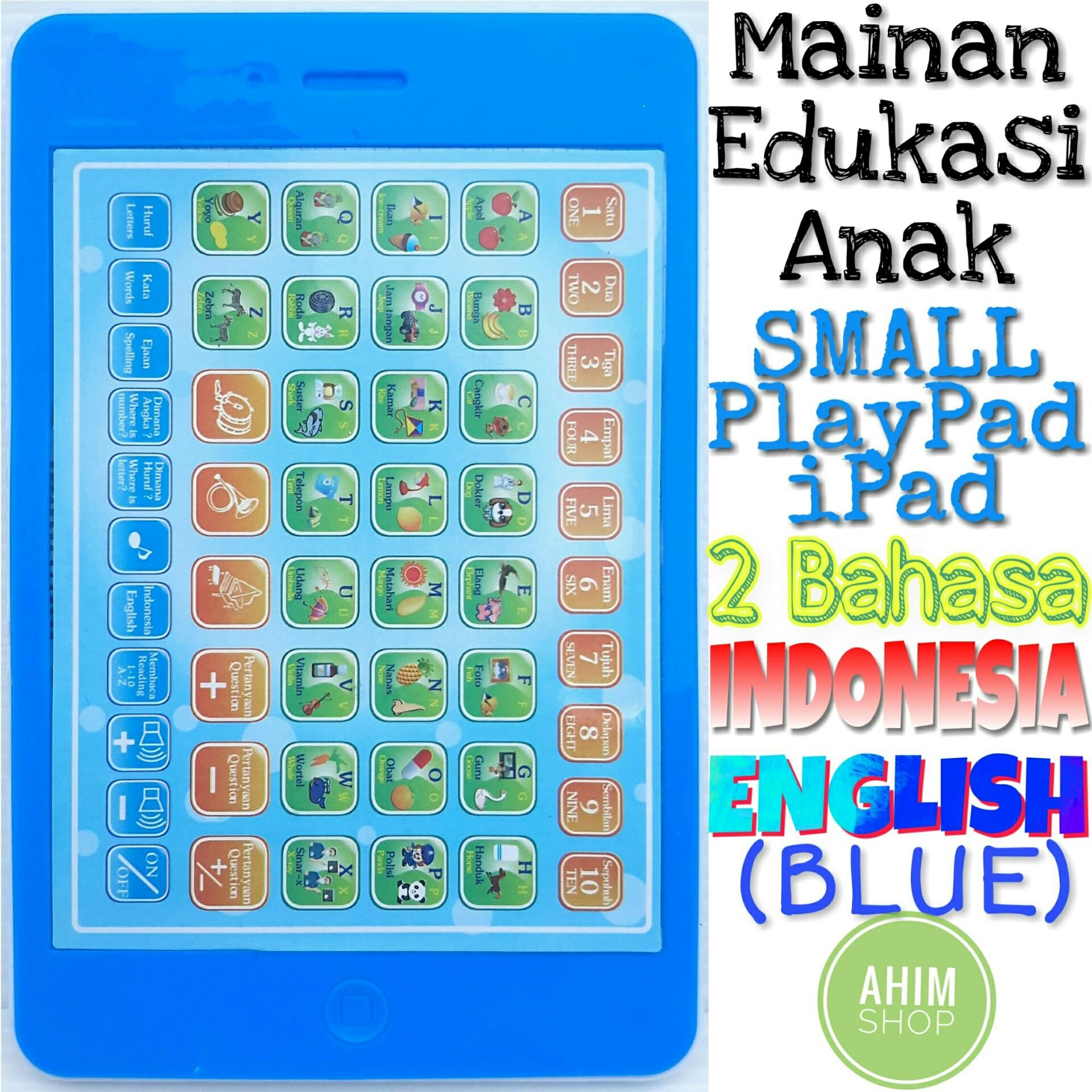(Blue) Mainan Edukasi Anak 18 Fungsi SMALL PlayPad iPad 2 Bahasa (Indonesia–
