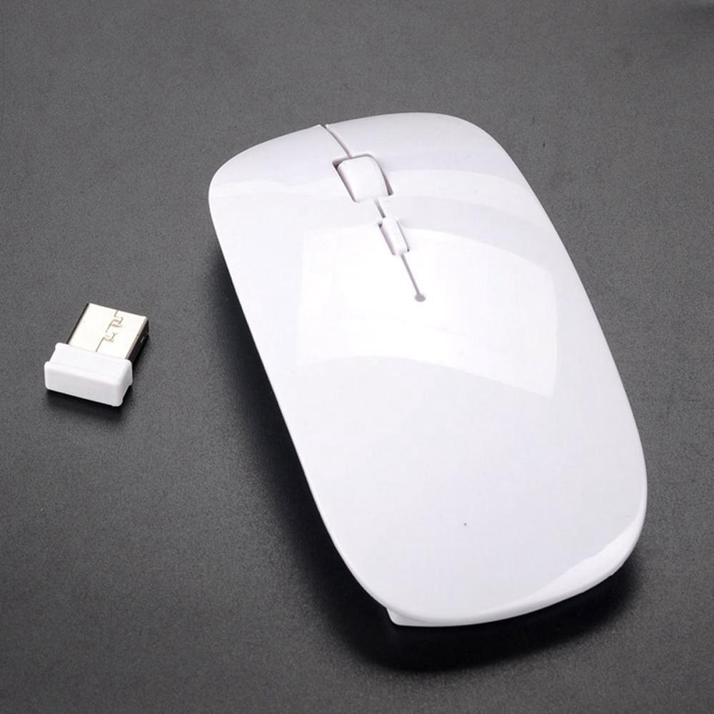 Unique 2.4Ghz Multicolor USB Mini Ultra-thin Wireless Mouse Slim Optical Mice For Laptop