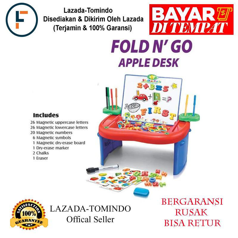 Tomindo Fold and Go Apple Desk / mainan anak / mainan edukasi