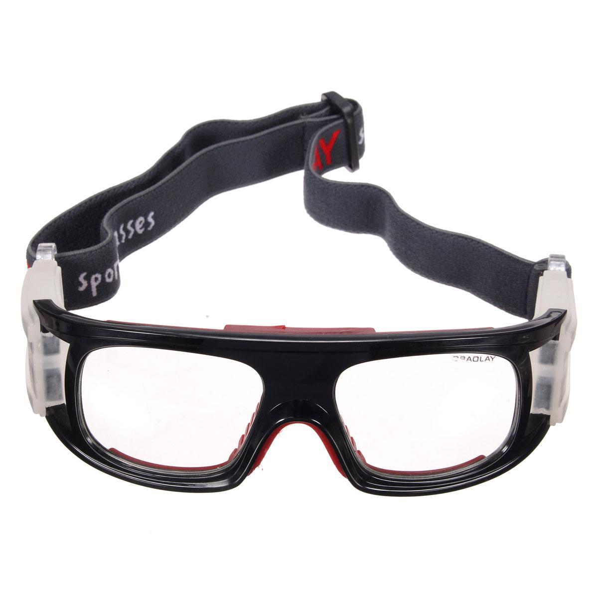 【Flash Deal】Olahraga Sepak Bola Basket Kacamata Pelindung Mata Kacamata Pengaman Pelindung Elastis Hitam