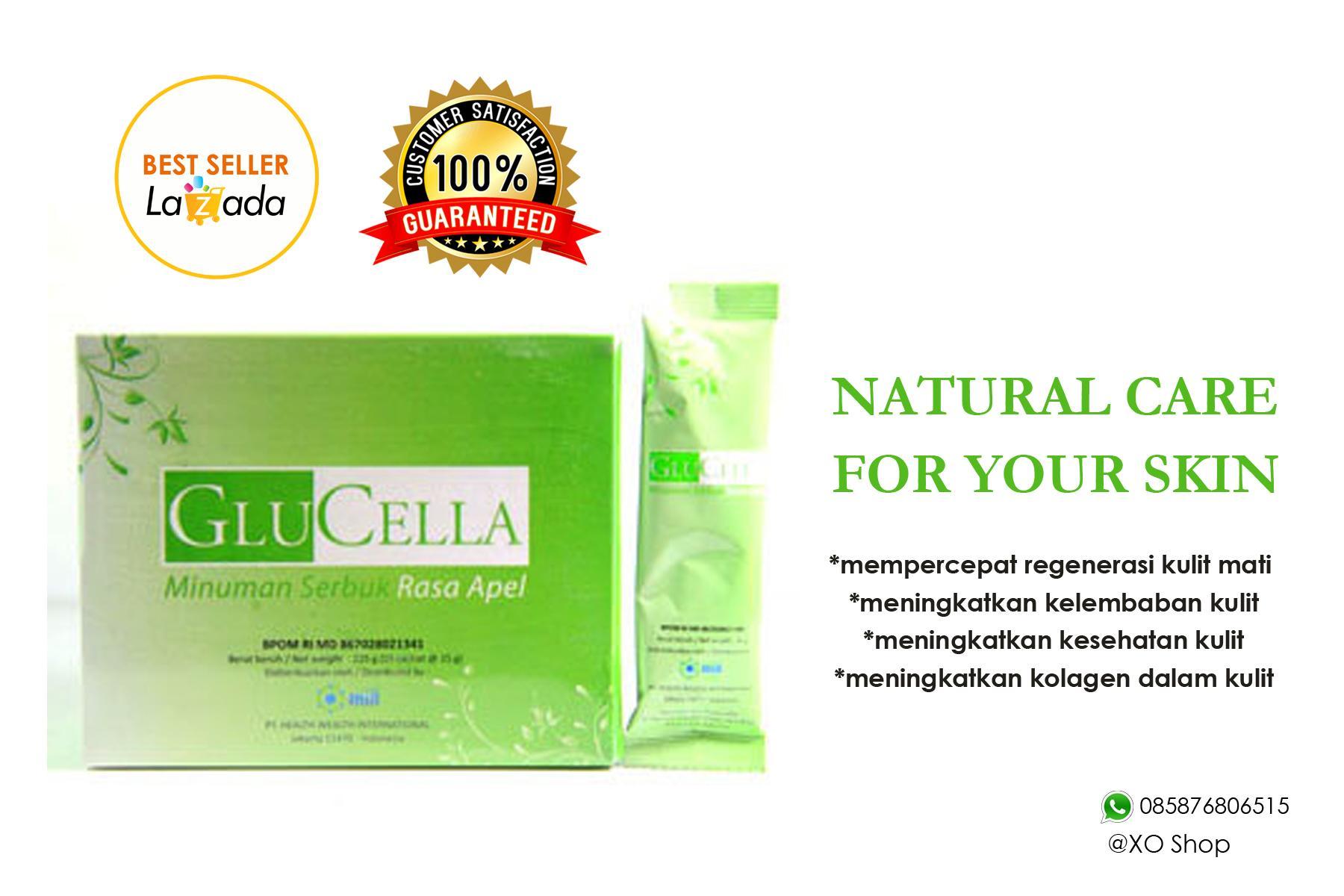 Glucella HWI Minuman Kesehatan Kulit Jaminan BPOM 1 box/15 Sachet Original 100%