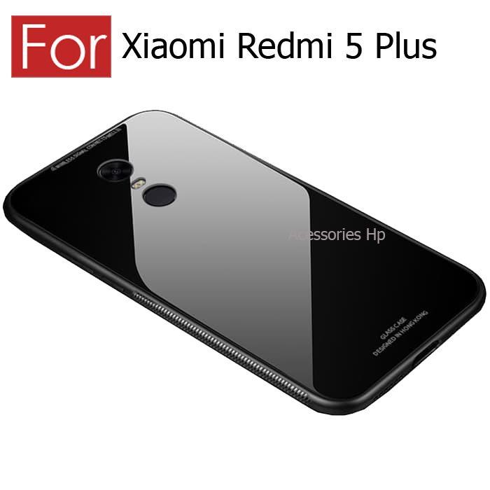 Accessories Hp Case Xiaomi Redmi 5 Plus Luxury Tempered Glass Premium Case