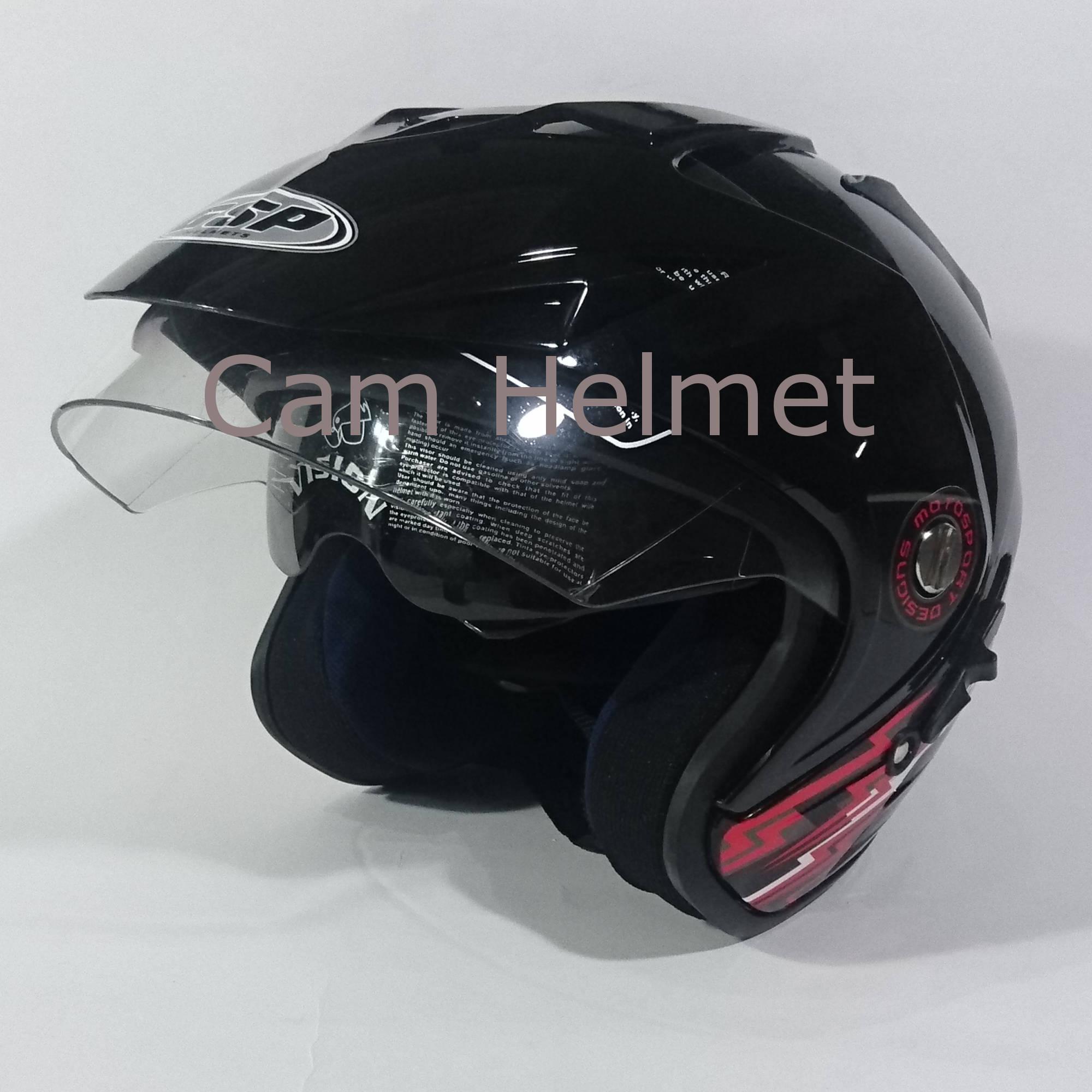 Helm Berkendara Motor Soeok Anak Unyu Model Retro Karakter Kuda Pony Pink Merah Gsp Jp 8 Black Gloss 2 Kaca Double Visor
