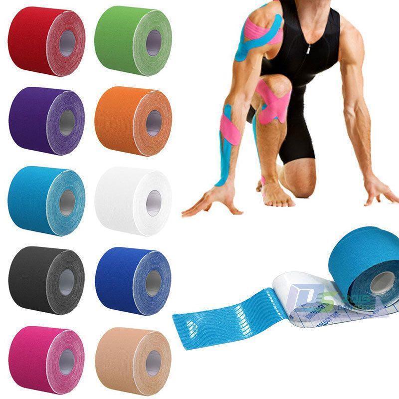Gulungan Perekat Tape Kinesio Cedera Olahraga Ketegangan. Source · RHS Rocktape Kinesiologi .
