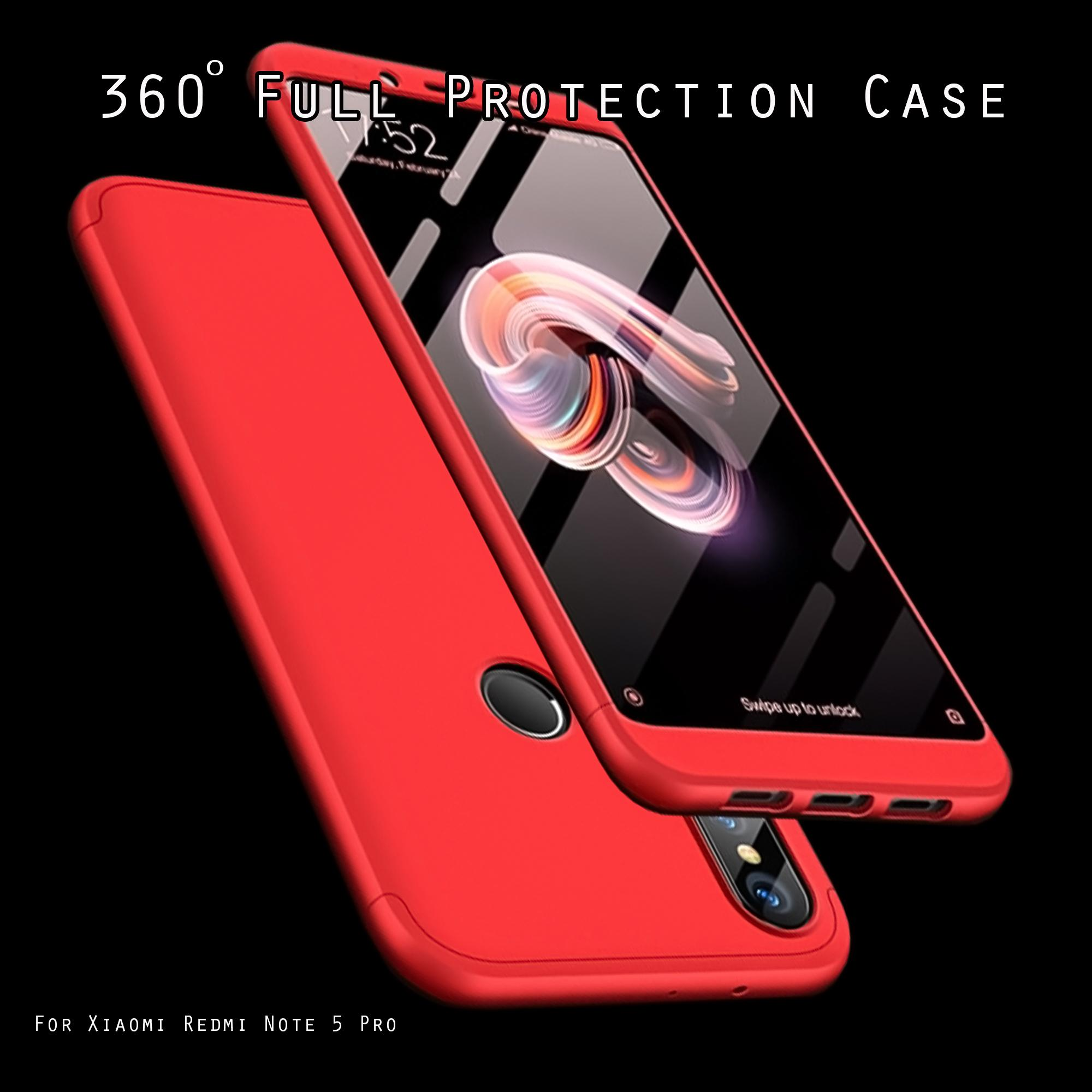 GKK Case Full Protect 360 Derajat For Xiaomi Redmi Note 5 / Redmi Note 5 Pro
