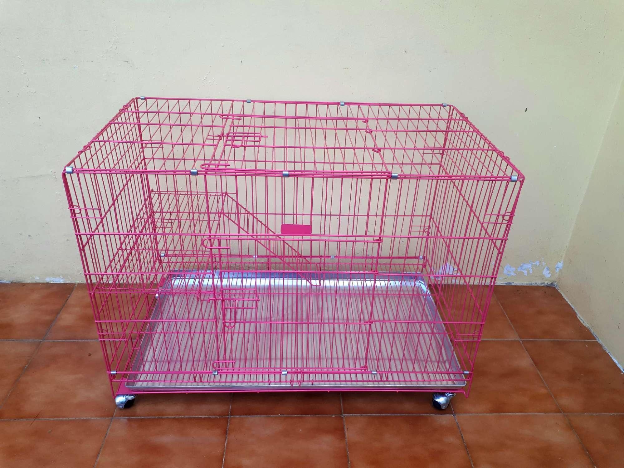 Kandang Tingkat Besar Besi Tebal Lipat Size XXL 95×63×55 Kucing Anjing Kelinci
