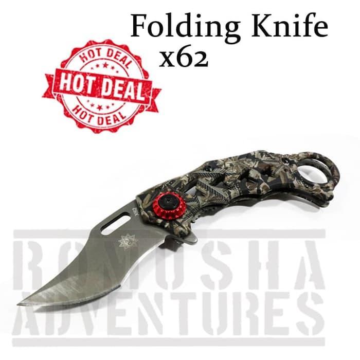 Karambit Deresrina ck X62 Folding Knives Pisau Lipat