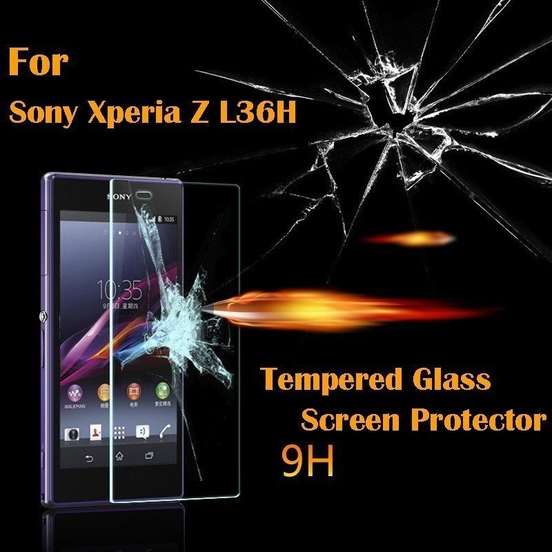 0.33mm Arc Edge Premium Tempered Glass Screen Protector 9 Hardness Cellphone Protective Film for Sony Xperia Z L36H L36i (Intl)