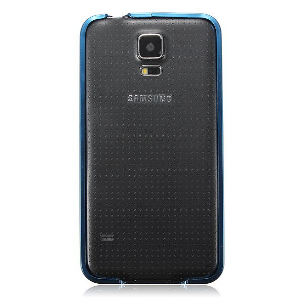 0.7mm Aluminum Metal Frame Bumper Case for Samsung Galaxy S5 i9600 G900F (Blue) (Intl)