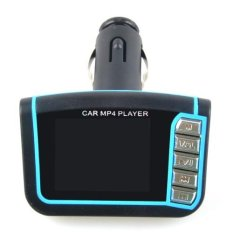 "1.3"" LCD Car Mp3 Mp4 Player Wireless FM Transmitter With Remote Supports SD MMC Card Blue"