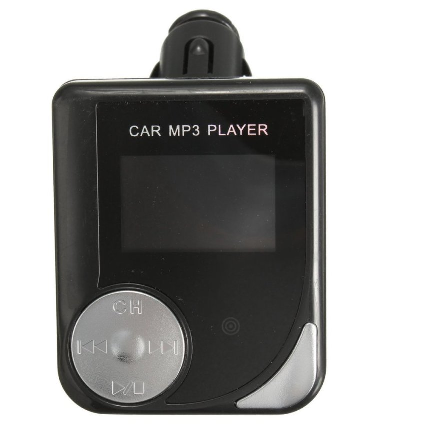 1.5'' LCD Car MP3 Music Audio Player FM Transmitter +Remote Support USB/TF/SD Black (Intl)