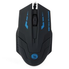 1.5m Cable 3D USB Wired Optical Gaming Mouse With 3000DPI For Desktop Laptop (Black) - Intl