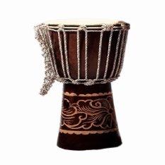 Cahaya Abadi - Jimbe Djembe Drum Factory, T: 40 Cm, R: 18 Cm, Alat Musik Perkusi - Coklat