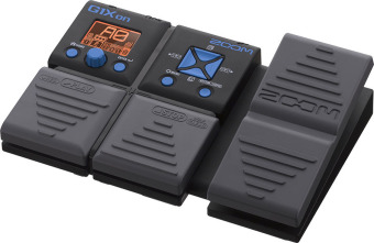 Zoom Effect Pedal Gitar G1X On - Black