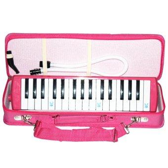HD - Pianika Box Exlusive Plus tas Dan Aksesoris Komplit - Pink