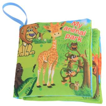 LALANG Baby Educational Early Learning Cloth Book Animal Park Picture Cognition