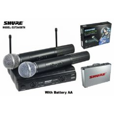mic wireless shure EUT-24/58TH + Hardcase(2 mic pegang)