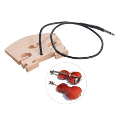 Violin Bridge with Internally Mounted Piezo Pickup for 4/4 Full Size Electric Violin Parts Replacement ^ - intl