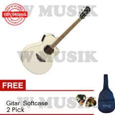 Yamaha Gitar Akustik Elektrik APX 500II - Vintage White + Gratis Softcase + 2 Pick