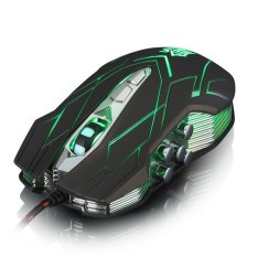 10.4000DPI Optical LED Wired Gaming Mouse For DotA FPS Laptop PC Green- Intl