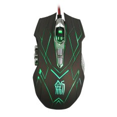 10.4000DPI Optical LED Wired Gaming Mouse For DotA FPS Laptop PC Green - Intl