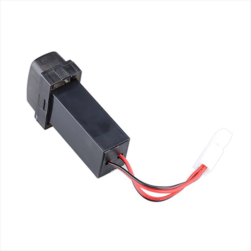 12V 2.1A Dual USB Port Power Socket Mobile GPS Car Charger for Mitsubishi (Black) (Intl)