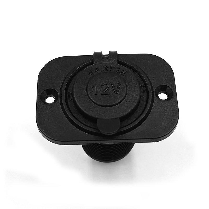 12V Car Motorcycle Motorbike Cigarette Lighter Power Socket Plug Outlet Black (Intl)