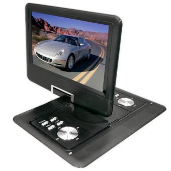 14-Inch Portable DVD Player TFT / LCD Monitor With Built-In MP3 / MP4 / USB SD Card Slot (Black)