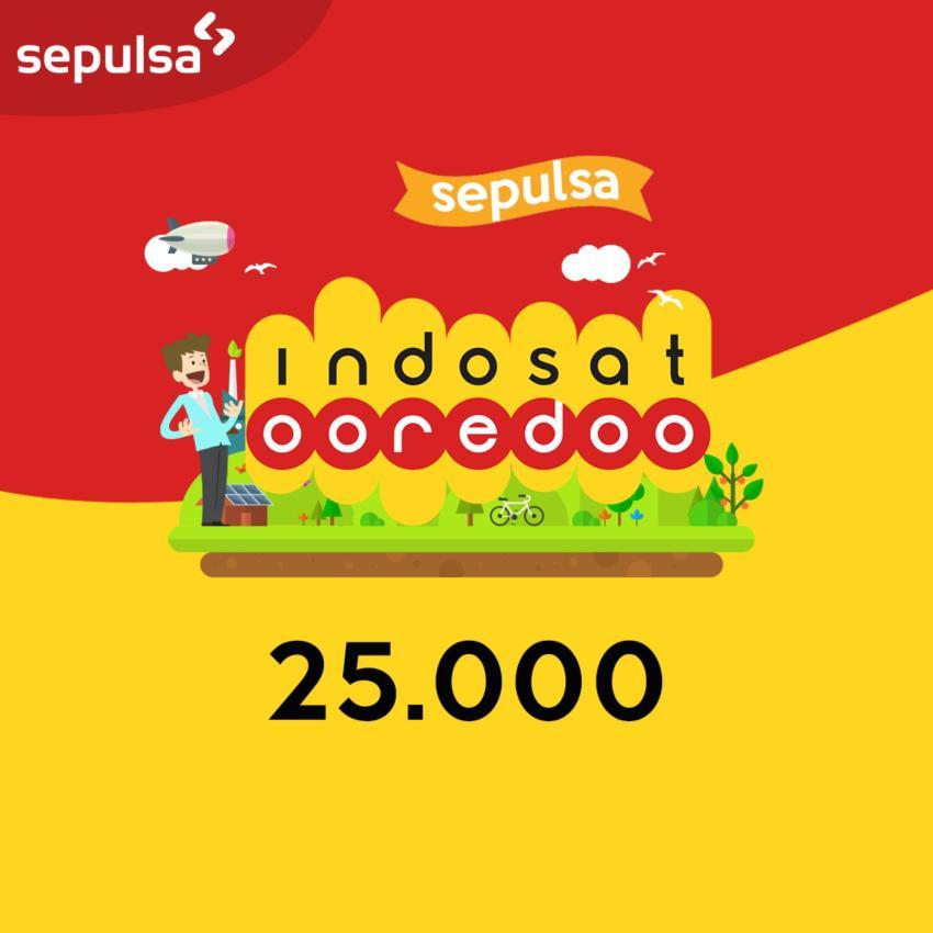Indosat Ooredoo Pulsa Electric Rp. 25.000 (Max. 1 kali Pembelian Per Nomor Handphone)