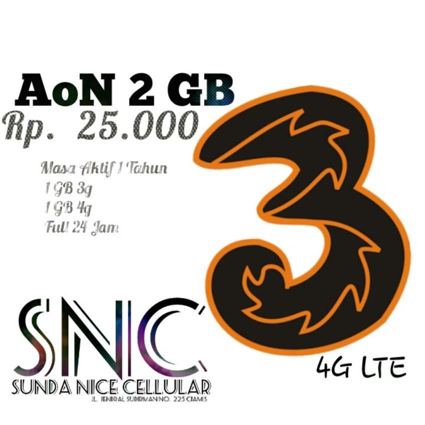 Perdana Three AON 2 GB