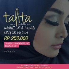 Talita Boutique & Wedding Service Paket Make Up & Hijab Untuk Pesta 12 Desember 2015 Pagi - Khusus Wilayah Surabaya
