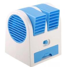 AC Duduk Portable Mini Fan With USB - Biru