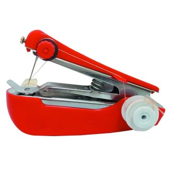 Aimons Mesin Jahit Mini Portable Sewing Machine - Merah