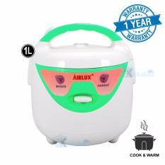 Airlux Magic Rice Com 3in1 Penanak Nasi Serbaguna RC-210 - Putih Hijau