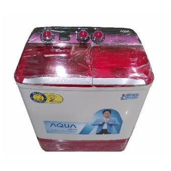 Aqua Mesin Cuci 2 Tabung QW880XT – Pink – Khusus Jadetabek(Pink)