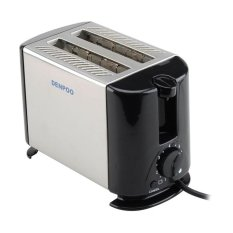 Denpoo DT-022D Pemanggang Roti Elektrik - Silver / Hitam