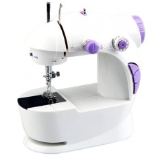 Gokea Mini Sewing Machine 4 In 1 With Flashlight Pedal And Adaptor New Generation - Mesin Jahit Mini 4 In 1 - Putih